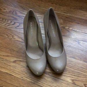 Franco Sarto nude patent heels-8